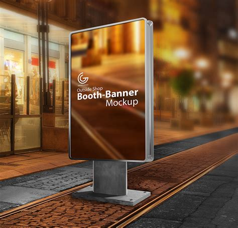photo booth banner design free outside shop booth banner mockup graphic google