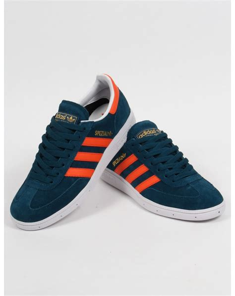 adidas sneaker trainers adidas spezial trainers mineral blue orange white suede