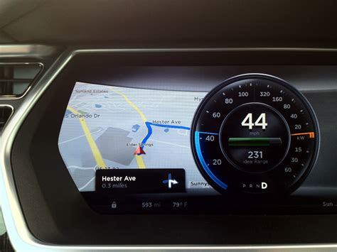 Tesla Model S Dashboard 2013 Tesla Model S Dashboard Display Fonts In Use