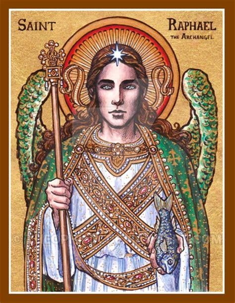 st raphael st raphael the archangel icon by theophilia on deviantart
