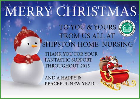 christmas messages shipston home nursing