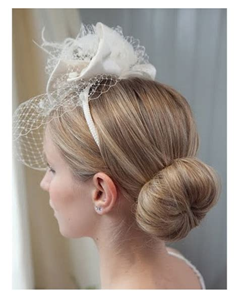 Wedding Hairstyles Updos With Fascinators by Bridesmaids The Side Bun Gallery Of Wedding