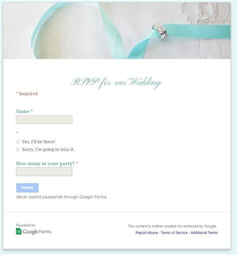 How to use Google Docs to create an online wedding RSVP