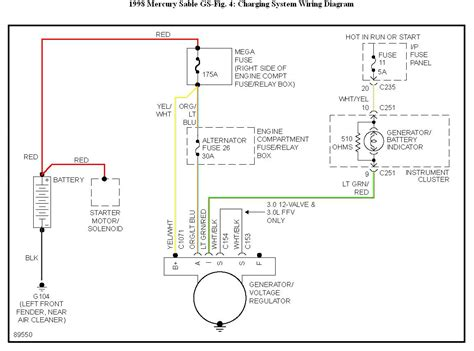 location 2000 mercury alternator wiring diagrams