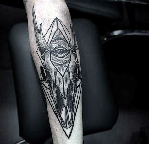 geometric goat tattoo 100 goat tattoo designs for men ink ideas with horns