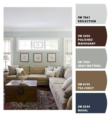 gray and brown paint scheme this is the color palette for the bedroom navy on one