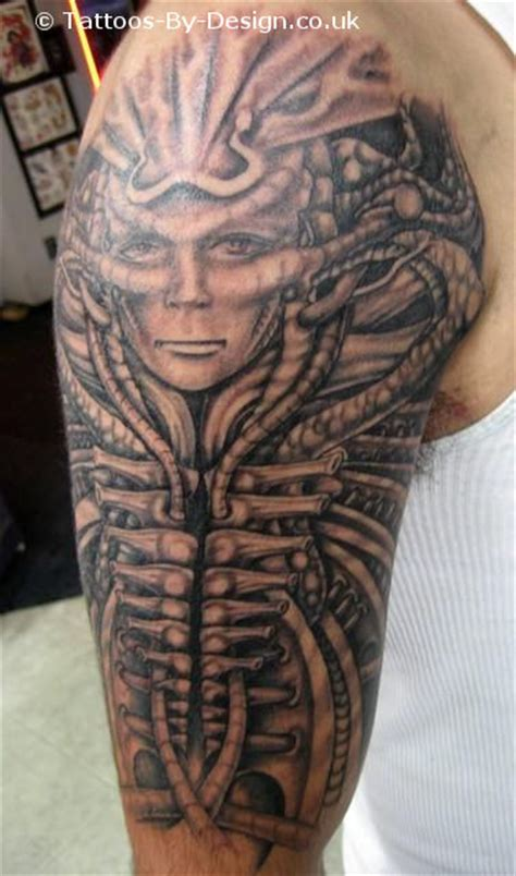 mechanical tribal tattoo mechanical tribal