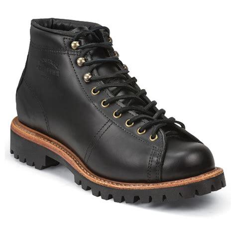 lace to toe boots chippewa black whirlwind 5 inch plain toe lacetotoe field