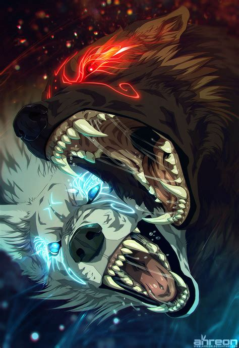 hati vs skoll by akreon on deviantart