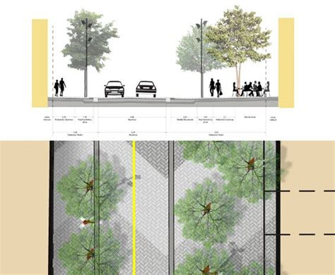 urban layout landscape features and pedestrian usage john street toronto canada the planning partnership