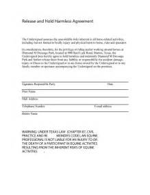 hold harmless waiver template 41 free hold harmless agreement templates free free