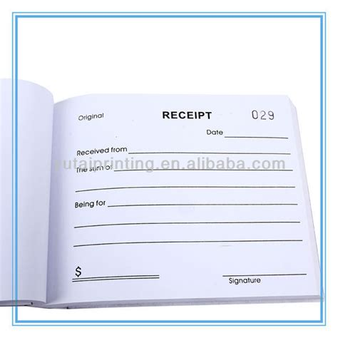A6 Receipt Book Template by Low Cost A6 Receipt Pads Printing