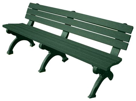 plastic bench legs recycled plastic arlington bench with green legs 6 long