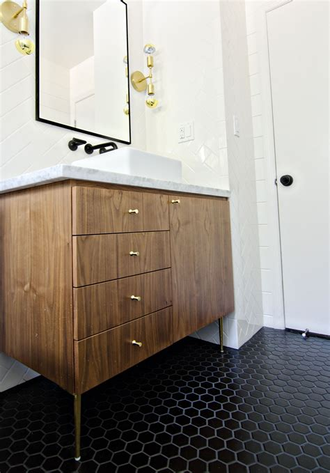 mid century inspired vanity   modern
