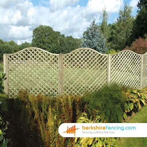 3ft Trellis Omega Trellis Fence Panels 4ft X 6ft Brown