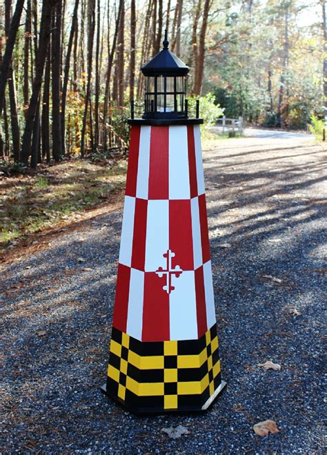 build   ft painted lawn lighthouse illustrated wood plans