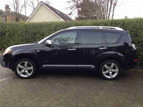 mitsubishi black cars mitsubishi 2008 outlander warrior di d black car for sale
