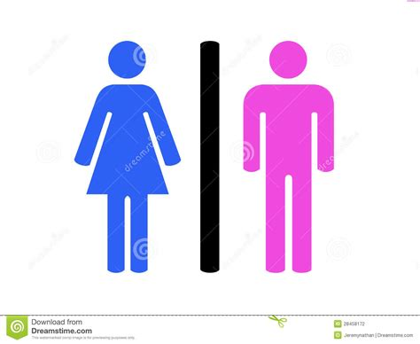 man and woman bathroom symbol men and women restroom symbol stock photography image