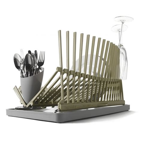 Dish Rack Drainer by Black Blum High And Dish Rack Folding Dish Drainer