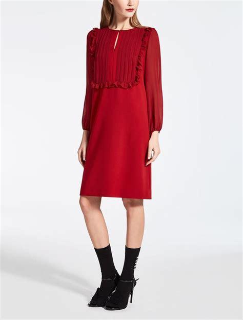 Maxmara Silk Choco cady and silk georgette dress endource