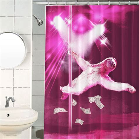 Sloth Shower Curtain by Sloth Shower Curtain
