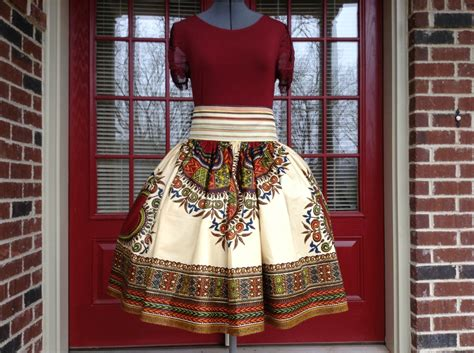 african bohemian style african wax print skirt bohemian style made to measure