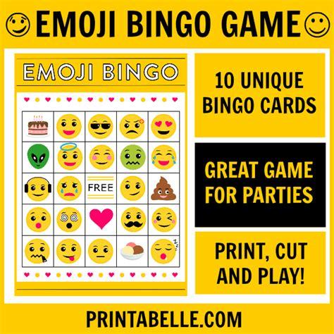 printable emoji games emoji bingo printable game printabelle
