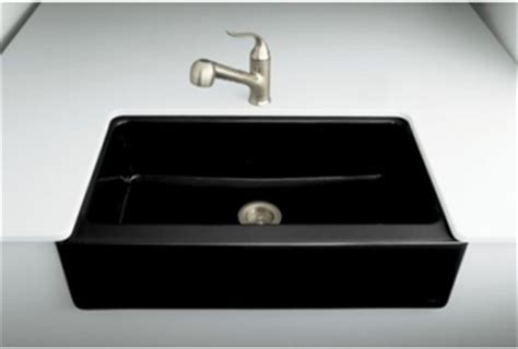 Black Apron Front Kitchen Sink by Kohler K 6546 4u 7 Dickinson Undercounter Apron Front
