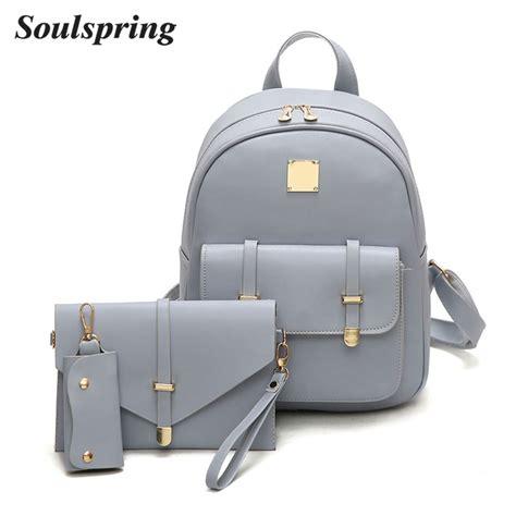 Backpack Fashion Set Banana fashion composite bag pu leather backpack 3 sets bag school backpacks for