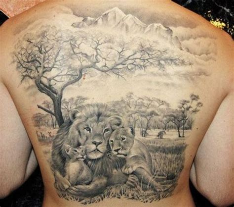 amazing lion tattoos on back the wild tattoo 2018