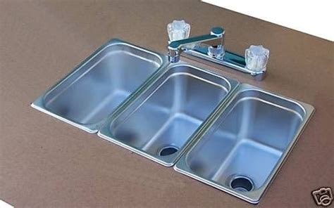 small three compartment sink drop in small 3 compartment sinks biz on wheels