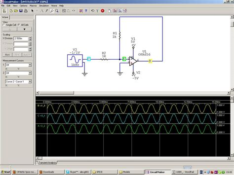 circuit maker design rules opa656 spice model simulation models forum webench
