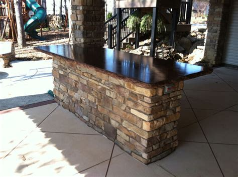 Outdoor Bar Tops by Outdoor Concrete Bar Top Www Pixshark Images