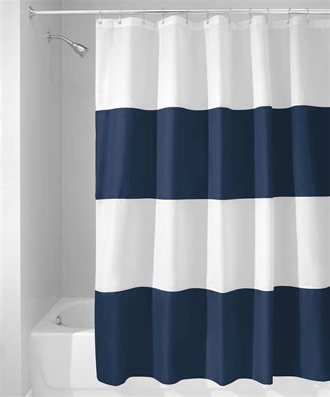 navy white curtain interdesign navy white zeno shower curtain zulily