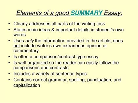 Elements Of Essay Writing by Ppt The California Writing Grades 4 And 7 Powerpoint Presentation Id 331484