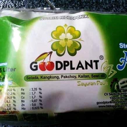 Harga Nutrisi Hidroponik Goodplant ab mix ekonomis daun goodplant 0 5 l hidroponikstore