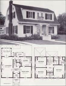 Dutch Colonial Home Plans by 1920s Vintage Home Plans Dutch Colonial Revival The