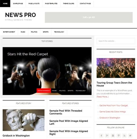 news aggregator template images templates design ideas