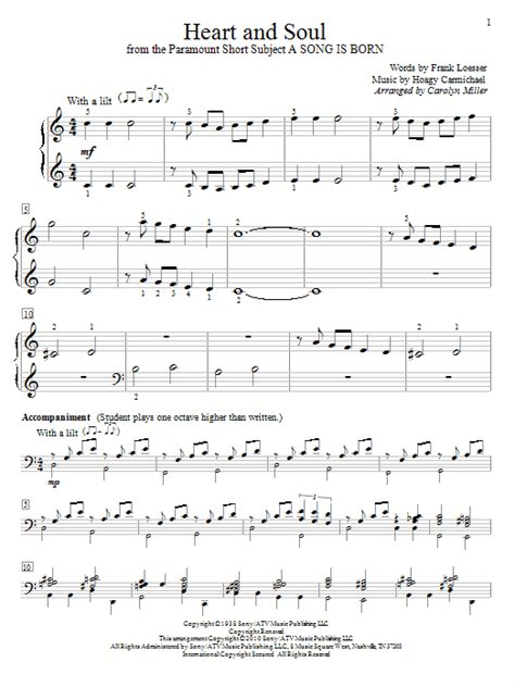 Heart And Soul | heart and soul sheet music by hoagy carmichael easy piano