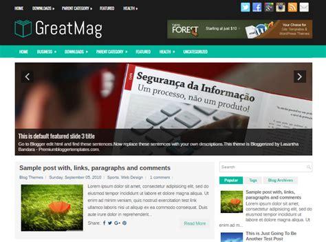 blogger html templates greatmag btemplates