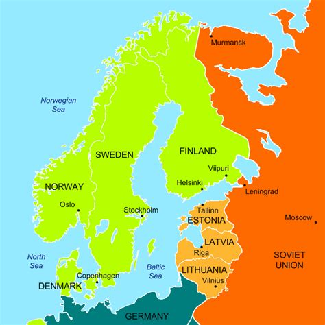 map northern europe countries cinia taps drg for finland germany subsea cable sales