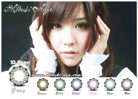 Mibuki Softlens Blue softlens mibuki aya 19 2mm