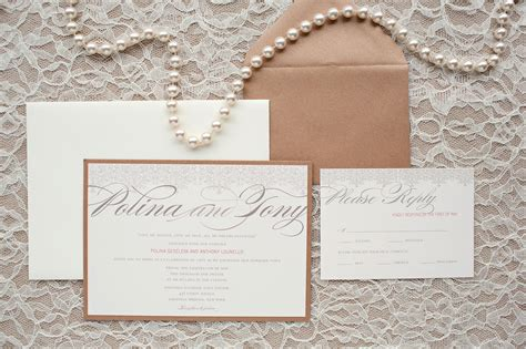 wedding invitations with pearls pearl lace c design