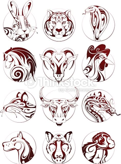 zodiac tattoo prices chinese zodiac animals set vector art thinkstock