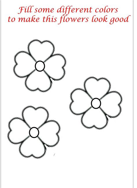 Printable Little Flowers | little flower coloring printable page for kids