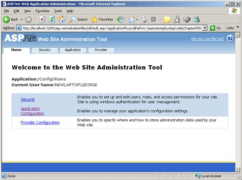 tutorial on web config in asp net the asp site