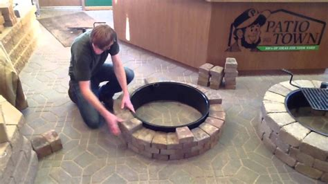 How to build a fire pit/fire ring   YouTube