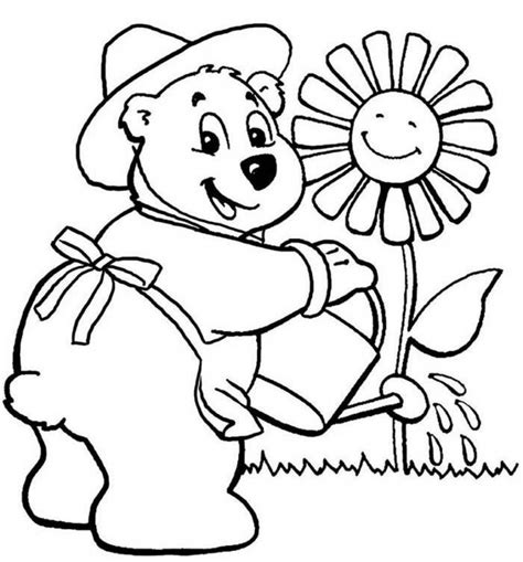 Coloring Flowers For Kids Coloring Home
