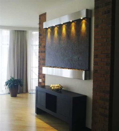 Interior Wall Water Fountains by Modern Wall Fountains For Tranquil Interior Decorating And