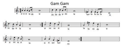lalala testo musica e spartiti gratis per flauto dolce gam gam